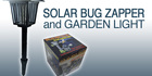 Enjoy a Bug-Free Summer Outdoors With a Solar Bug Zapper & Combined Stylish Garden Light for Just $39! Valued at $79. No Wires, No Electricity Needed! Delivery Included