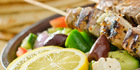 Big Fat Greek Feast for Two! Only $49 for the Chef's Signature Platter of Chicken Yiros, Salt and Pepper Squid, Juicy Kebabs of Prawns, Lamb and Chicken, Dips and Pita, Falafel and More. Valued at $140